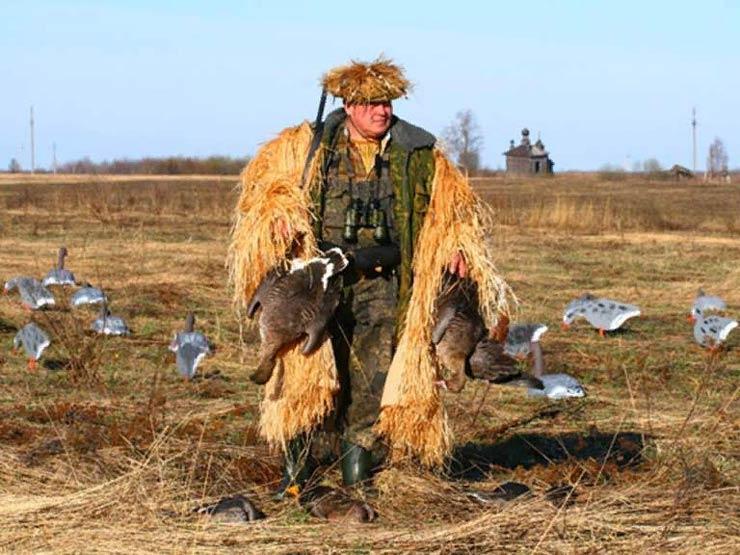 Охота на гуся в Астрахани осенью